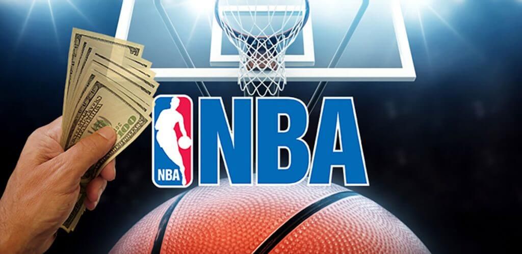 nba logo with ball and cash